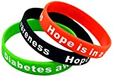 The Electric Mammoth Hope is in A Cure Diabetic Diabetes Silicone Bracelet Wristbands - Set of 3