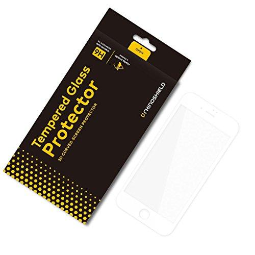 RhinoShield Protection Écran Compatible avec [iPhone 7 / iPhone 8] | Verre Trempé Bord Bord 9H - Résistance Rayures et Traces de Doigts - Dureté 9H Protection 3D courbée [adhésif sans Bulles] - Blanc