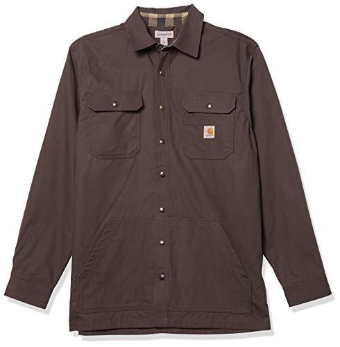 Carhartt Mens Weathered Canvas Shirt Jacket Snap Front