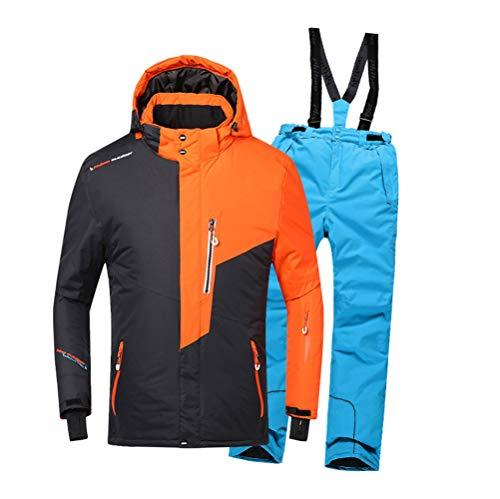AZUOYI Ski Suit Kids Ski Jas Pant Ski Suit Voor Jongen Outdoor Winter Waterdichte Winddichte Camping Snowboarden Pak Jas (Jas + broek)