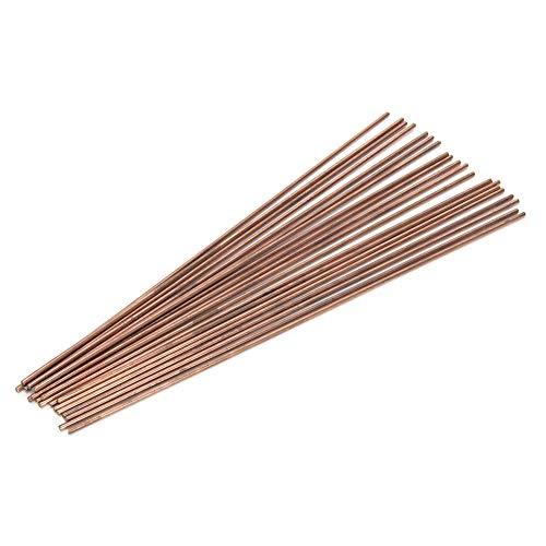 Varilla de soldadura de 20 piezas, varilla de soldadura de cobre fosforoso redonda, consumibles de soldadura, para soldar tubos de cobre de aires acondicionados y refrigeradores