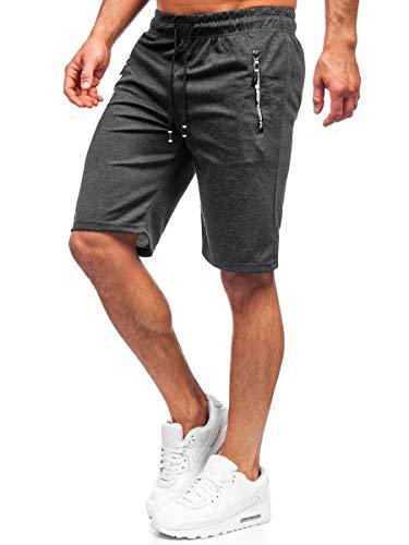 BOLF Hombre Pantalón Corto Deportivos Shorts Bermudas Básicos Pantalón Corto de Fitness Print Entrenamiento Gimnasio Deporte Outdoor Ocio Estilo Urbano 7G7