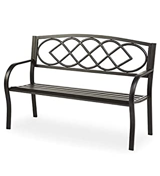 Plow & Hearth Celtic Knot Patio Garden Bench Park Yard: