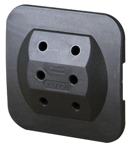 Kopp Euro-Adapter 3-fach extraflach, schwarz
