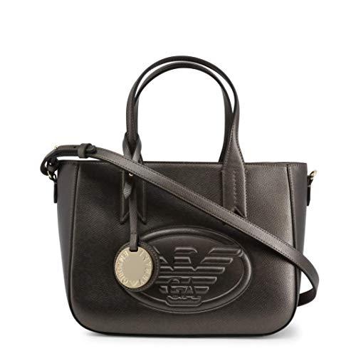 Emporio Armani Eagle Logo Donna Handbag Metallico