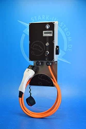 Preisvergleich Produktbild Wallbox 11 kw BIG-EASY / -Wallbox Made in Germany- / Plug and Play (8, 0 Meter Typ 2 Ladekabel / Ohne Zuleitung Direktanschluss)