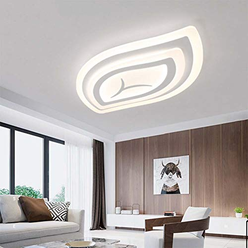 SXFYWYM Lámpara de Techo LED Ultrafina Lámpara de Techo de Dormitorio Creativo Iluminación de Sala de Estar de jardín,Dimming,55x35x4cm