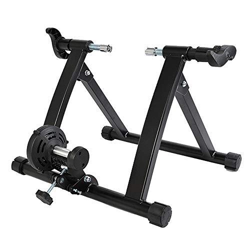 HUOFEIKE Uso En El Hogar Bike Magnetic Turbo Traine, Magnetic Bike Trainer Stand Resistencia Variable Bicicleta Trainer Ejercicio Fitness Marco Estacionario para Bicicletas De Carretera De Montaña