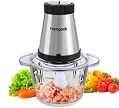 👍【Versatile Kitchen Essential】Starting preparing delicious meals for your loved ones is now easier than ever. This BPA FREE Mini Chopper helps chopping, blending, pureeing, mixing and mincing a variety of ingredients for the perfect texture every tim...