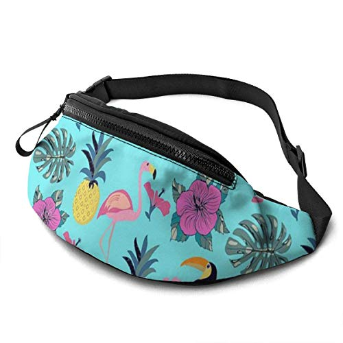 XCNGG Waist Pack Bag for Men&Women, Colourful Flower Utility Hip Pack Bag with Adjustable Strap for Workout Traveling Casual Running
