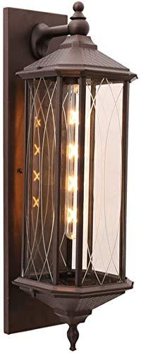 Despeje Luces de pared al aire libre impermeables Línea de aluminio marrón Lámpara de diseño de lámpara de cristal E27 jardín Parque Escénico Área escénica Balcón Lámpara D21 * H60CM IP44