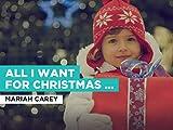 All I Want For Christmas Is You al estilo de Mariah Carey