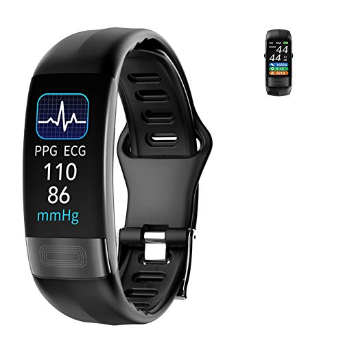 HHT Smart Watch, Schermo Full Touch IP67 Impermeabile Bluetooth Fitness GPS Esecuzione Guarda Activity Tracker Pedometro con frequenza cardiaca Sonno monitoraggio Camera Control,Nero