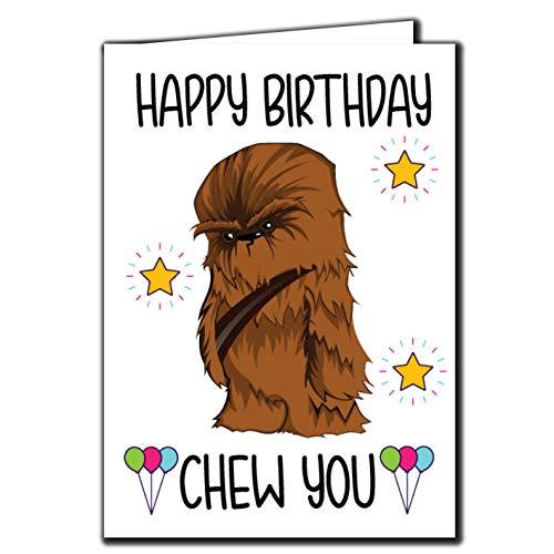 Lustige Geburtstagskarte – Happy Birthday Chew You Chewbacca Star Wars C141