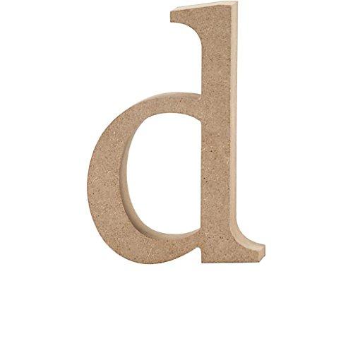 Lettre, h: 12,2 cm, MDF, d, 1 pièce