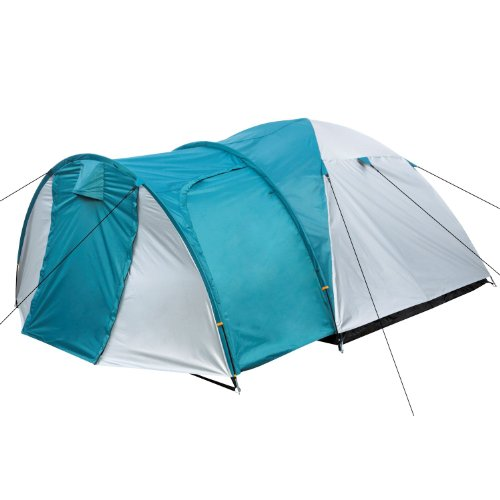 CampFeuer Kuppelzelt für 3 Personen Biglu   für Camping, Outdoor und Wandern inkl. Erdnägel und Aufbewahrungstasche (Silber/grün)