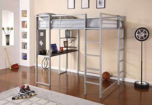 DHP Adobe Loft Bed, Silver, Full