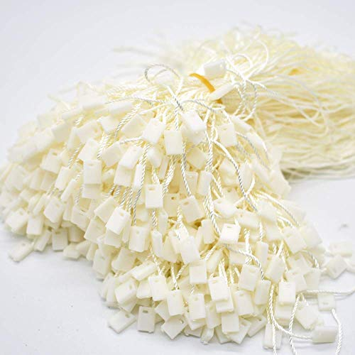 """TBWHL Beige Hang Tag String 7"""" 1000Pcs String Nylon Snap Lock Pin Loop Fastener Hook Ties Easy and Fast to Attach"""