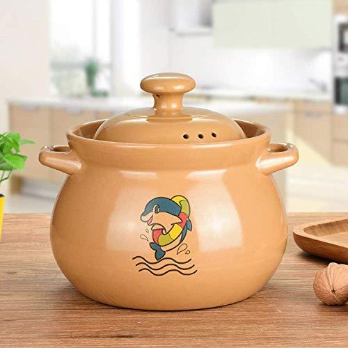 LIUSHI Keramikdeckel Keramikplatte im Gesundheitswesen, erstaunlich hält den Hitzetopf Slow Cooker - hohe Temperaturbeständigkeit, Beige-5.5L