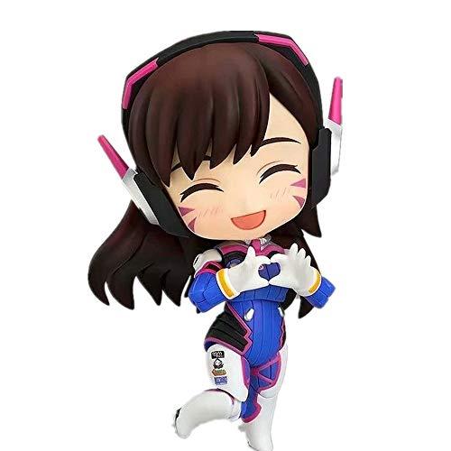 WFLNS Overwatch Figure Song Hana Dva Chibi Figure Anime Girl Figure Action Figure