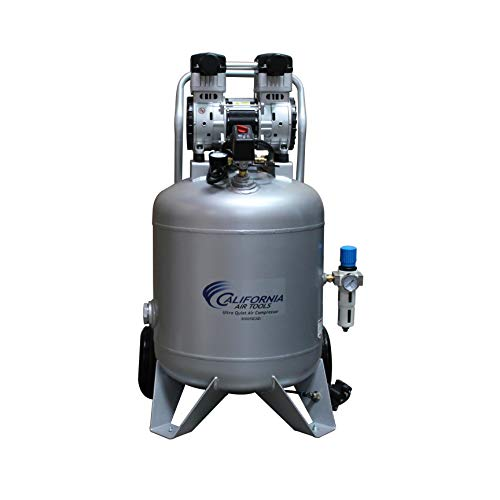 California Air Tools 30020CAD Ultra Quiet & Oil-Free 2.0 Hp, 30.0 Gal. Steel Tank Air Compressor with Automatic Drain Valve