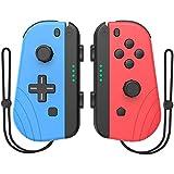 Joycon Controller Ersatz für Nintendo Switch, kompatibel Switch Joy-Con mit Wake-Up Funktion (blau und rot)