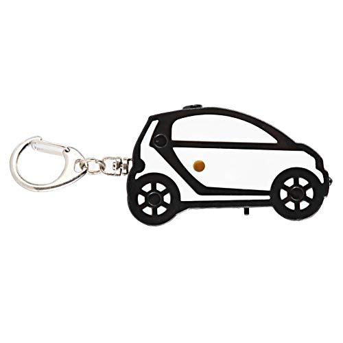 Schlüsselfinder, ABS-Material Pfeife ausgelöst Sprachalarm Schlüsselverlust, Brieftasche, Kinder, Pet Tracker (Auto)(Schwarz und weiß)