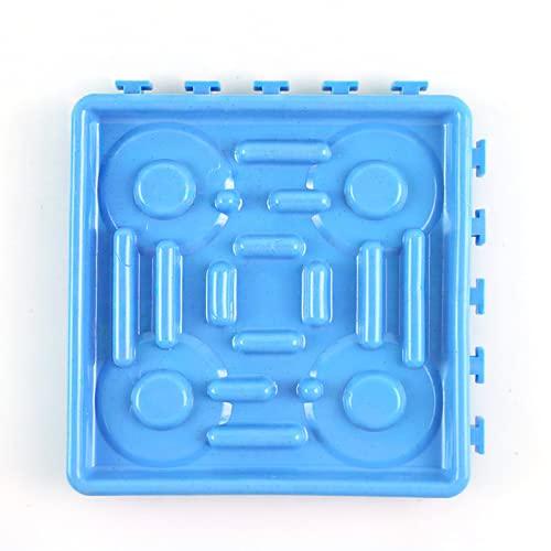 Blingpony Mata do powolnego podawania dla psów, ssanie na ścianie smakołyki powolne dozowanie mata podwójne zastosowanie zdejmowana do kąpieli zwierząt domowych i treningu psów talerz z powolnym jedzeniem pojedynczy (niebieski)