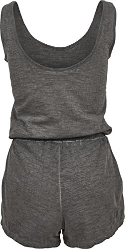 Urban Classics Damen Jumpsuit Ladies Cold Dye Short, Grau (Grey 00111) - 2