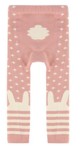 EOZY Legging Bébé Fille Rose Stretch Hiver Chaud Chambre Pantalon Souple 0-2 Ans