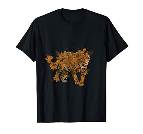 Watercolor Jaguar Shirt Wild Animals Gift for Jaguar Lovers T-Shirt