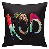 XCNGG Funda de Almohada Kod J Cole Plush Fabric Fashion Square Pillowcase Cushion Cover Sofa Pillowcase 18in18in
