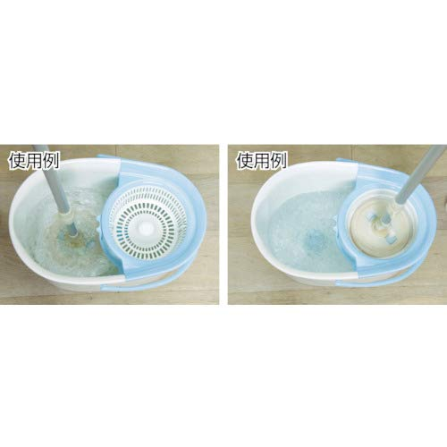 アイリスオーヤマ回転モップ手回しタイプ本体バケツセットモップ洗浄機能付き30×52×30cmKMT-420