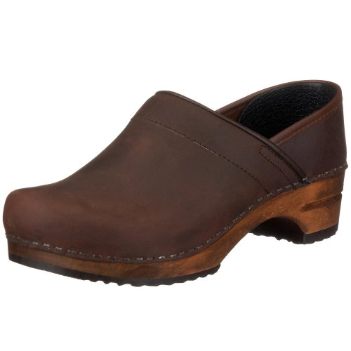 Sanita Damen Julie closed Clogs, Braun (Antique Brown 78), 41 EU