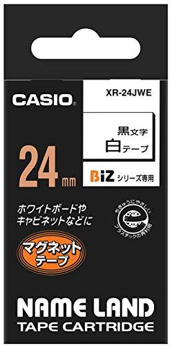 CASIO EZ-Label Printer XR-24JWE Schriftband magnetisch 24 mm x 1,5 m schwarz auf weiß