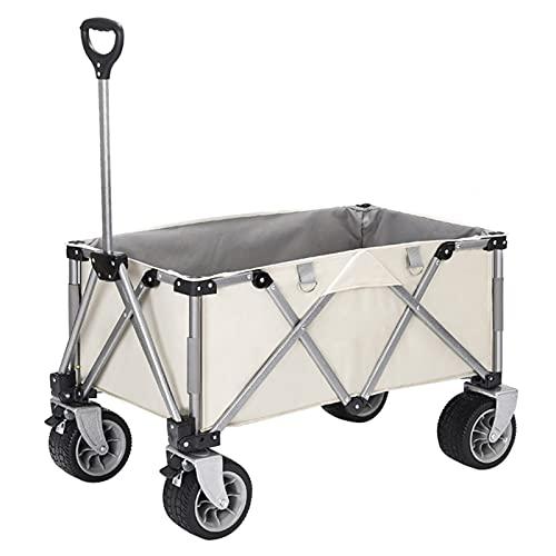 Garden Trolley Opvouwbare Tuintrolley, Draagbare Buitenopslagtrolley Voor Kamperen/Reizen/Vissen, Brede Zwenkwielen Voor…