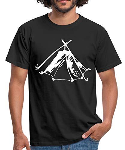 Zelt Biwak Kothe Männer T-Shirt, L, Schwarz