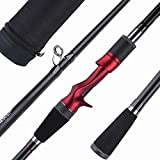 Goture Casting Rod 4 Pieces Fishing Rod Travel Fishing Pole with Rod Case 7.6FT Medium Heavy Power