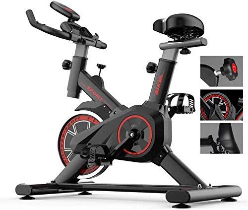 SAFGH Bicicleta estática para Interior, Ciclismo, estacionaria, Ajustable, Ejercicio Profesional, Entrenamiento para Entrenamiento en casa, Bicicleta Deportiva Musle de 330 Libras de Capacidad de