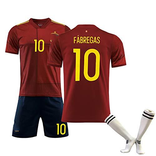 FUNBS Juego de Chalecos de fútbol para Hombre, Fábregas Morata, Copa de Europa España, la Mejor opción para simpatizantes, Limpieza repetible, red10-S