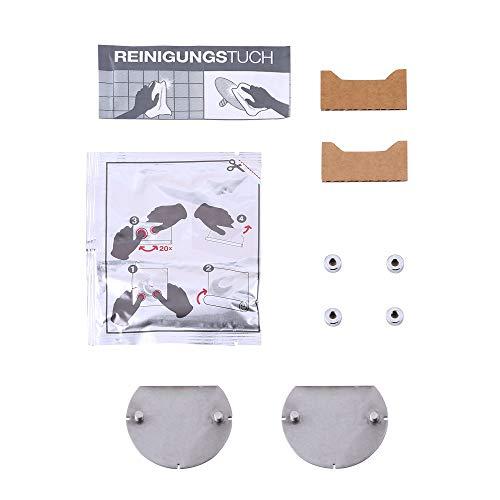 KEUCO Klebe-Set Typ 1 für Toilettenpapier-halter mit Glas-Ablage und ausgewählte Dusch-Ablagen, Kleben statt bohren, Badezimmer oder Gäste-WC