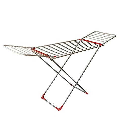 Fenix Séchoir à linge pliable avec ailes Surface d étendage 18 m Pliable et antidérapant Pour intérieur et extérieur 55 x 170 x 104 cm