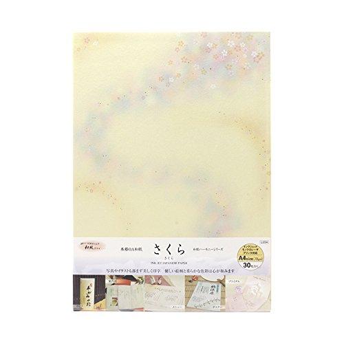 谷口松雄堂 プリンター用紙 和紙 A4 30枚 さくら LI204