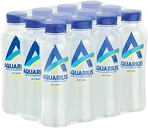 Aquarius Zitrone mit Zink, erfrischender Zitronengeschmack trifft auf vitalisierendes Zink, 12er Pack (12 x 400 ml)