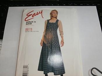 McCall s Stitch  n Save Sewing Pattern 8878 Woman s Jumper Dress 10 12 14 16