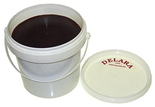 DELARA 500 ml hoogwaardige lederen balsem met bijenwas, met kleine, 4-delige borstelset en een polijstdoek - Made in Germany