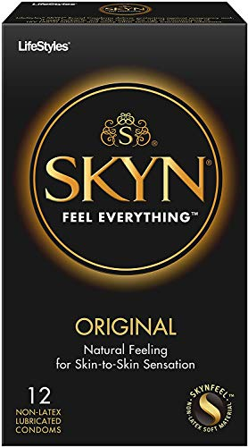 Lifestyles Skyn Polyisoprene Condoms, 12 Count (Pack of 1)