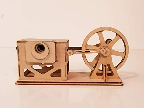 ABONG DIY Wooden Steam Engine Kit - Working Model Educational Engine Model Kit, Model Engine Kit – Stem Kits