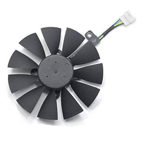 inRobert T129215SU Ventilador de refrigeración para tarjeta gráfica ASUS STRIX GTX980Ti/R9390/RX480/RX580 Video Card (Fan-B)