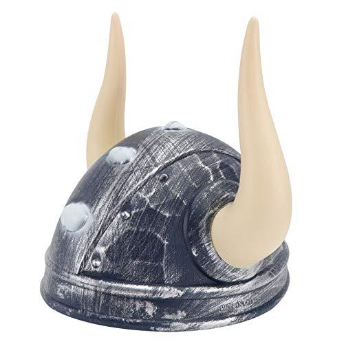 PRETYZOOM Casco vikingo para disfraz de pirata, sombrero medieval vikingo, cuernos de guerrero, unisex, sombrero vikingo, disfraz para fanticos del ftbol